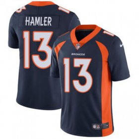 Wholesale Cheap Nike Broncos #13 KJ Hamler Navy Blue Alternate Youth Stitched NFL Vapor Untouchable Limited Jersey