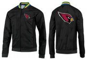 Wholesale Cheap NFL Arizona Cardinals Team Logo Jacket Black_3