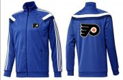 Wholesale Cheap NHL Philadelphia Flyers Zip Jackets Blue-3