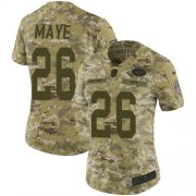 Wholesale Cheap Nike Jets #26 Marcus Maye Camo Women's Stitched NFL Limited 2018 Salute to Service Jersey