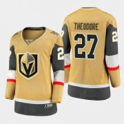 Cheap Vegas Golden Knights #27 Shea Theodore Women 2020-21 Player Alternate Stitched NHL Jersey Gold