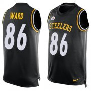 Wholesale Cheap Nike Steelers #86 Hines Ward Black Team Color Men's Stitched NFL Limited Tank Top Jersey