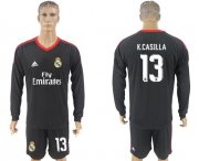 Wholesale Cheap Real Madrid #13 K.Casilla Black Goalkeeper Long Sleeves Soccer Club Jersey