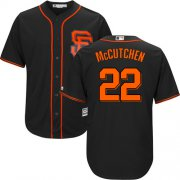 Wholesale Cheap Giants #22 Andrew McCutchen Black New Cool Base Alternate Stitched MLB Jersey