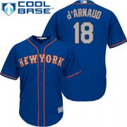Wholesale Cheap Mets #18 Travis d'Arnaud Blue(Grey NO.) Cool Base Stitched Youth MLB Jersey