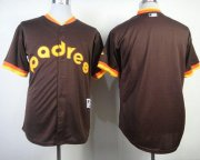 Wholesale Cheap Padres Blank Coffee 1984 Turn Back The Clock Stitched MLB Jersey