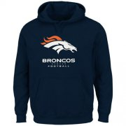 Wholesale Cheap Denver Broncos Critical Victory Pullover Hoodie Navy Blue