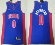 Wholesale Cheap Men's Detroit Pistons #0 Andre Drummond Blue 2019 Nike Swingman Stitched NBA Jersey