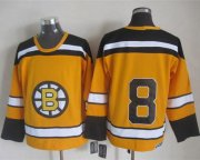 Wholesale Cheap Bruins #8 Cam Neely Yellow CCM Throwback Stitched NHL Jersey