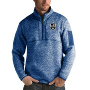 Wholesale Cheap Los Angeles Kings Antigua Fortune Quarter-Zip Pullover Jacket Blue