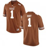 Wholesale Cheap Men's Texas Longhorns 1 John Burt Orange Nike College Jersey