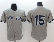 Wholesale Yankees #15 Thurman Munson Grey Flexbase Authentic Collection Stitched Baseball Jersey