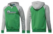 Wholesale Cheap Miami Dolphins English Version Pullover Hoodie Green & Grey