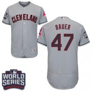 Wholesale Cheap Indians #47 Trevor Bauer Grey Flexbase Authentic Collection 2016 World Series Bound Stitched MLB Jersey