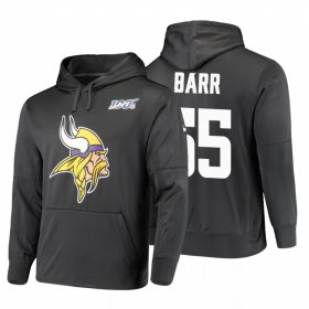 Wholesale Cheap Minnesota Vikings #55 Anthony Barr Nike NFL 100 Primary Logo Circuit Name & Number Pullover Hoodie Anthracite