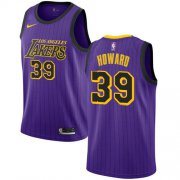 Wholesale Cheap Nike Lakers #39 Dwight Howard Purple NBA Swingman City Edition 2018-19 Jersey