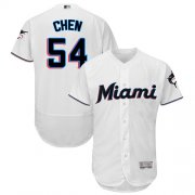 Wholesale Cheap marlins #54 Wei-Yin Chen White Flexbase Authentic Collection Stitched MLB Jersey