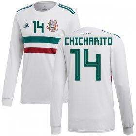 Wholesale Cheap Mexico #14 Chicharito Away Long Sleeves Soccer Country Jersey