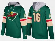 Wholesale Cheap Wild #16 Jason Zucker Green Name And Number Hoodie