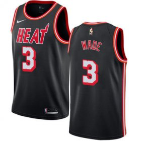 Wholesale Cheap Nike Miami Heat #3 Dwyane Wade Black NBA Swingman Hardwood Classics Jersey
