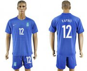 Wholesale Cheap Greece #12 Kapino Away Soccer Country Jersey
