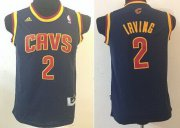 Cheap Cleveland Cavaliers #2 Kyrie Irving Navy Blue Kids Jersey