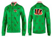 Wholesale Cheap NFL Cincinnati Bengals Team Logo Jacket Green