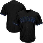 Wholesale Cheap Chicago Cubs Majestic Big & Tall Pop Fashion V-Neck Jersey Black
