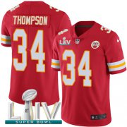 Wholesale Cheap Nike Chiefs #34 Darwin Thompson Red Super Bowl LIV 2020 Team Color Youth Stitched NFL Vapor Untouchable Limited Jersey