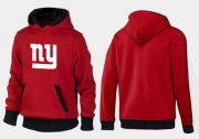 Wholesale Cheap New York Giants Logo Pullover Hoodie Red & Black