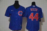 Wholesale Cheap Women's Chicago Cubs #44 Anthony Rizzo Blue Stitched MLB Cool Base Nike Jersey