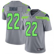 Wholesale Cheap Nike Seahawks #22 Quinton Dunbar Gray Men's Stitched NFL Limited Inverted Legend Jersey