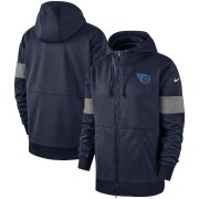 Wholesale Cheap Tennessee Titans Nike Sideline Performance Full-Zip Hoodie Navy