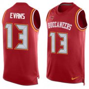 Wholesale Cheap Nike Buccaneers #13 Mike Evans Red Team Color Men's Stitched NFL Limited Tank Top Jersey