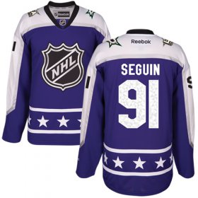 Wholesale Cheap Stars #91 Tyler Seguin Purple 2017 All-Star Central Division Stitched NHL Jersey