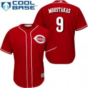 Wholesale Cheap Reds #9 Mike Moustakas Red New Cool Base Stitched MLB Jersey