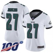 Wholesale Cheap Nike Eagles #27 Malcolm Jenkins White Women's Stitched NFL 100th Season Vapor Limited Jersey