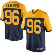 Wholesale Cheap Nike Packers #96 Muhammad Wilkerson Navy Blue Alternate Youth Stitched NFL New Limited Jersey
