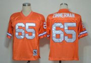 Wholesale Cheap Mitchell And Ness Broncos #65 Gary Zimmerman Orange Stitched Throwback NFL Jersey
