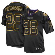 Wholesale Cheap Nike Vikings #28 Adrian Peterson Lights Out Black Men's Stitched NFL Elite Jersey