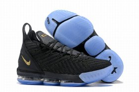 Wholesale Cheap Nike Lebron James 16 Air Cushion Shoes Black Golde
