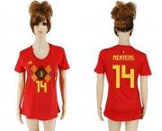 Wholesale Cheap Women's Belgium #14 Mertens Red Home Soccer Country Jersey