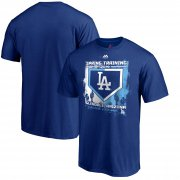 Wholesale Cheap Los Angeles Dodgers Majestic 2019 Spring Training Base On Ball T-Shirt Royal