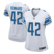 Wholesale Cheap Nike Lions #42 Devon Kennard White Women's Stitched NFL Elite Jersey