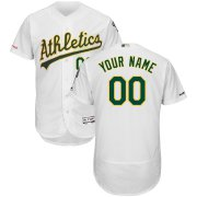 Wholesale Cheap Oakland Athletics Majestic Home Flex Base Authentic Collection Custom Jersey White
