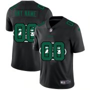 Wholesale Cheap New York Jets Custom Men's Nike Team Logo Dual Overlap Limited NFL Jersey Black