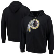 Wholesale Cheap Washington Redskins G-III Sports by Carl Banks Primary Logo Full-Zip Hoodie Black