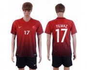 Wholesale Cheap Turkey #17 Yilmaz Home Soccer Country Jersey