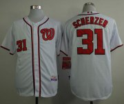 Wholesale Cheap Nationals #31 Max Scherzer White Cool Base Stitched MLB Jersey