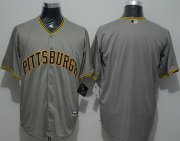 Wholesale Cheap Pirates Blank Grey New Cool Base Stitched MLB Jersey